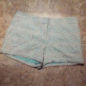 Ann Taylor Loft crochet shorts